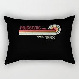 April 1968 53 th Birthday Years Old Rectangular Pillow