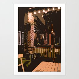 Patio Party of 1 Art Print