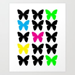 Colorful Butterflies Art Print
