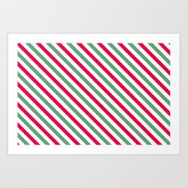 Holiday Stripes Art Print
