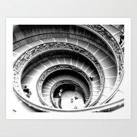 Spiral Staircase, Vatican Museum Art Print