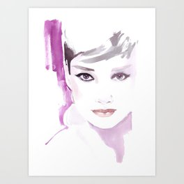 Fashion illustration in watercolors and ink Art Print
