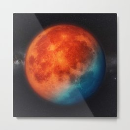 Super blue blood moon Metal Print