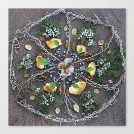 Nature Mandala: February Canvas Print