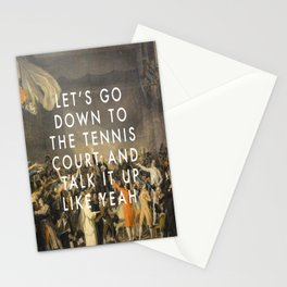 Tennis Court Oath Stationery Cards