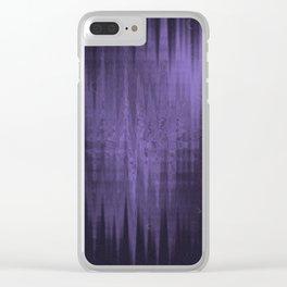 Random weird looking unclear, bright and shaky dark slate gray, dark slateblue and light slate gray Clear iPhone Case