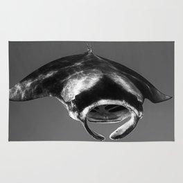 Manta Ray Black & White Rug