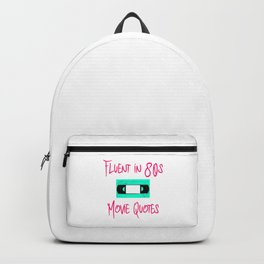 Fluent in 80s Movie Quotes Fun Cassette VCR Backpack