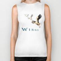 wings Biker Tanks featuring Wings by Avigur