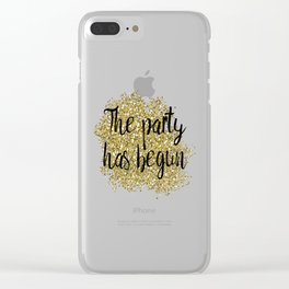 The party has begun - golden jazz Clear iPhone Case