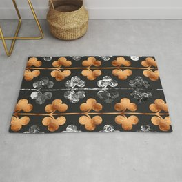 Abstract Leaves Pattern Rug