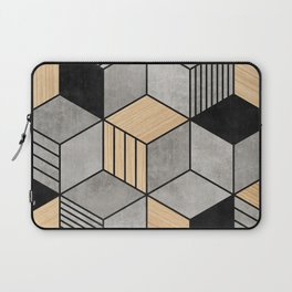 Concrete and Wood Cubes 2 Laptop Sleeve
