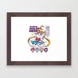 Sailor Meow Framed Art Print