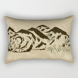 Sleepy Bear Mountain Rectangular Pillow
