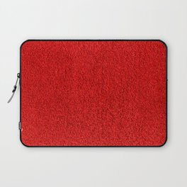 Rose Red Shag pile carpet pattern Laptop Sleeve