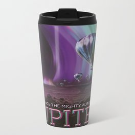 Jupiter Retro Space Tourism Poster Travel Mug