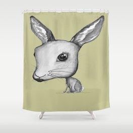 NORDIC ANIMAL  - HAZEL THE HARE / ORIGINAL DANISH DESIGN bykazandholly  Shower Curtain
