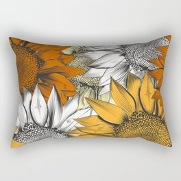 Beautiful pattern from hand drawn sunflowers Rectangular Pillow