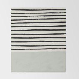 Coastal Breeze x Stripes Throw Blanket