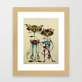 Kit and Kitty Framed Art Print