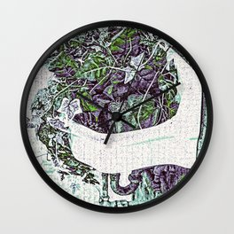 Water Fountain Plant Stand Wall Clock