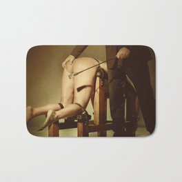 Nude Woman On the Whippingbench Bath Mat