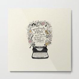Magic Typewriter Typography Metal Print
