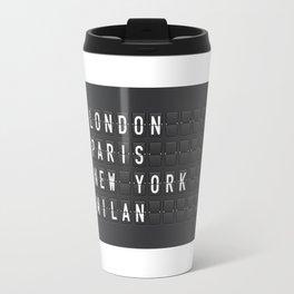 London, Paris, New York, Milan Travel Mug