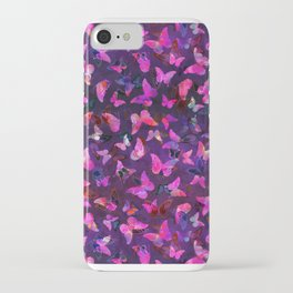 Butterfly Forest Purple iPhone Case