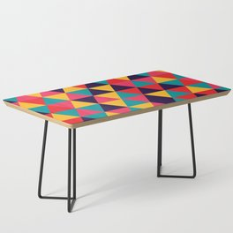 Colorful Triangles (Bright Colors) Coffee Table