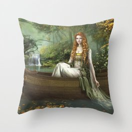 Lady of the Rhine Throw Pillow