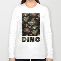 jurassic park Long Sleeve T-shirts featuring Classic Jurassic by Josh Ln