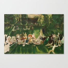 """Classical Masterpiece """"The Tennis Tournament"""" by George Bellows, 1920 Canvas Print"""