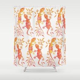 Geckos – Fire Palette Shower Curtain