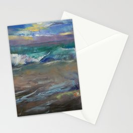 Moonlit Waves Stationery Cards