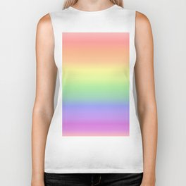 soft rainbow Biker Tank