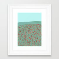 poppies Framed Art Prints featuring Poppies by Anita Ivancenko