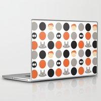 hayao miyazaki Laptop & iPad Skins featuring I Love Miyazaki by Etiquette