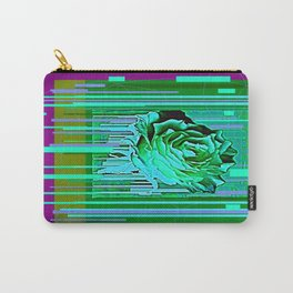 Green-Purple Fantasy Green Rose Abstract Carry-All Pouch