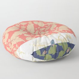 Tomatos and beetles - Pantone palete - mix colors Floor Pillow