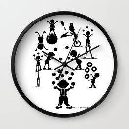 Jugglefest! Wall Clock