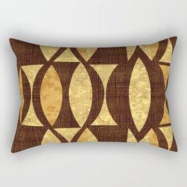 seventies gold and brown Rectangular Pillow