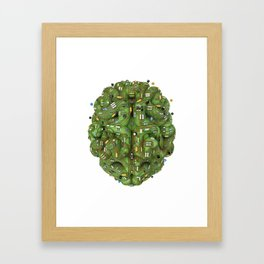 Circuit brain Framed Art Print
