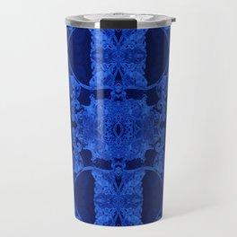 Blue Glow Orchid Techno-Floral Travel Mug