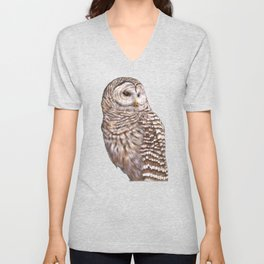 Barred Owl Unisex V-Neck
