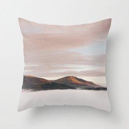 Above the cloud at sunrise. Cumbria, UK. Throw Pillow