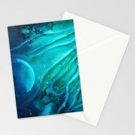 Space squid Stationery Cards