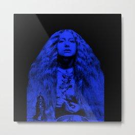 Millais Bridesmaid In Blue Metal Print