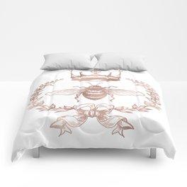 Queen Bee in Rose Gold Pink Comforters
