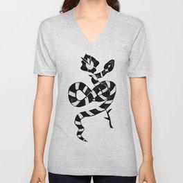 Snake & flower Unisex V-Neck